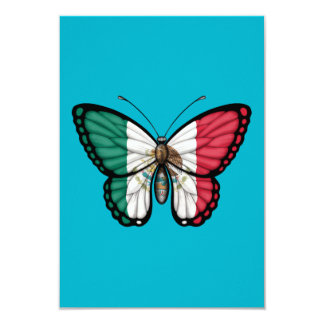 Mexican Butterfly Flag Custom Invites