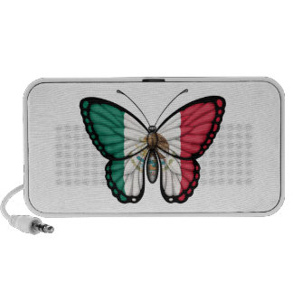 Mexican Butterfly Flag iPod Speaker