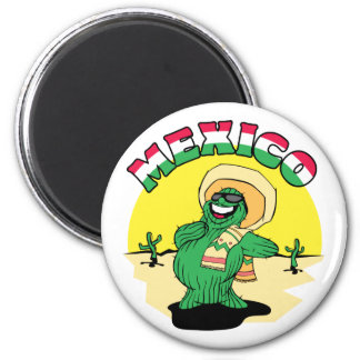 Mexican Cactus 2 Inch Round Magnet