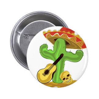 Mexican Cactus Pinback Buttons