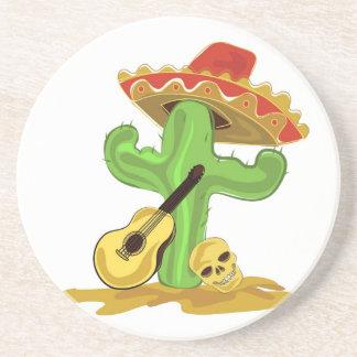 Mexican Cactus Beverage Coasters