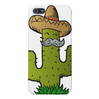 mexican cactus with mustache cover for iPhone SE/5/5s
