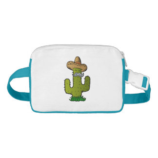 mexican cactus with mustache fanny pack