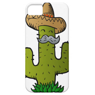 mexican cactus with mustache iPhone SE/5/5s case