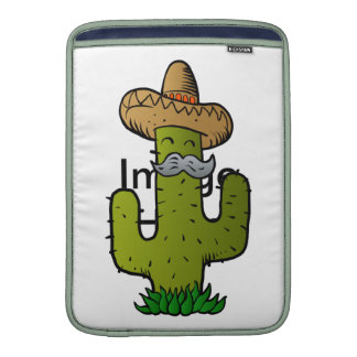 mexican cactus with mustache MacBook sleeve