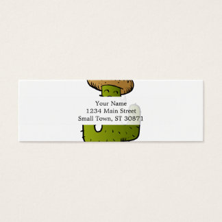 mexican cactus with mustache mini business card