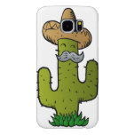mexican cactus with mustache samsung galaxy s6 case