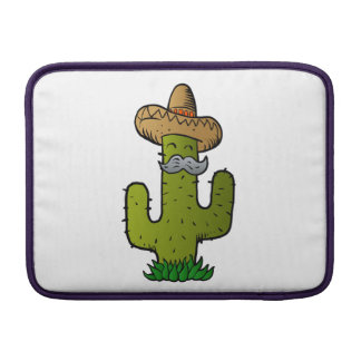 mexican cactus with mustache sleeve for MacBook air