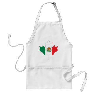 Mexican Canadian Flag Adult Apron