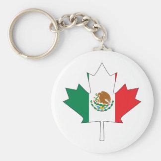 Mexican Canadian Flag Keychain