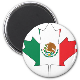 Mexican Canadian Flag Magnet