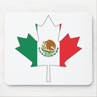 Mexican Canadian Flag Mouse Pad