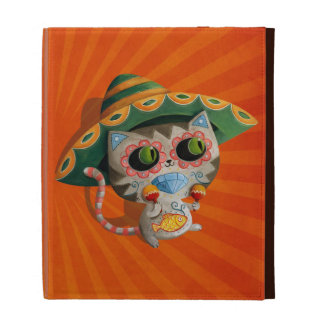 Mexican Cat with Sombrero iPad Case