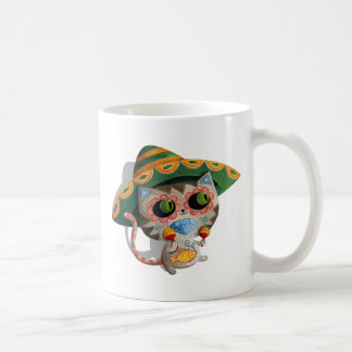 Mexican Cat with Sombrero Classic White Coffee Mug
