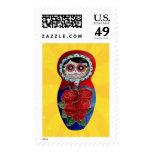 Mexican Catrina Matryoshka Postage Stamps