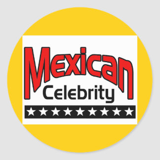 Mexican Celebrity Classic Round Sticker