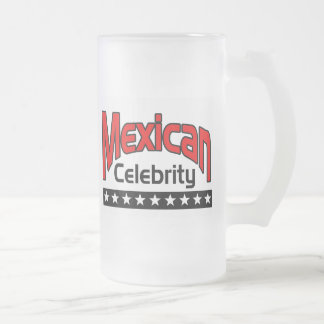 Mexican Celebrity Frosted Glass Beer Mug