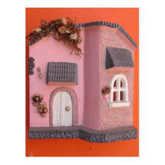 Mexican Ceramic House Fasad Postcard