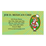 Mexican Chef Cook Plate Tacos Burrito Corn Chips Business Cards