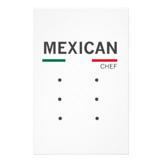 Mexican Chef Stationery