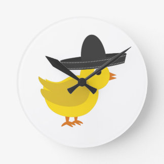 Mexican Chick Wall Clock