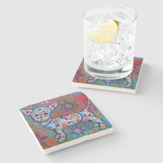 Mexican Chihuahua by Prisarts Stone Coaster