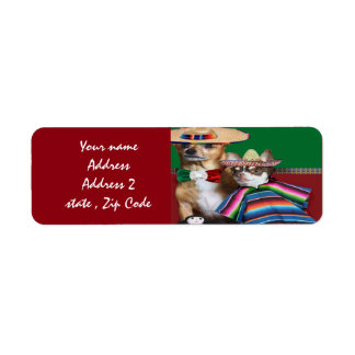 Mexican Chihuahua dogs address labels