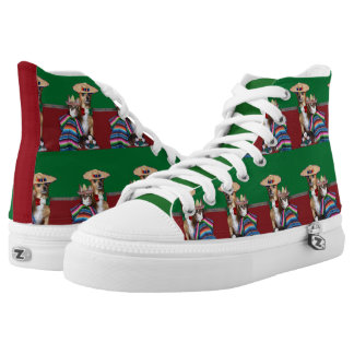 Mexican Chihuahua Dogs high top tennis shoes