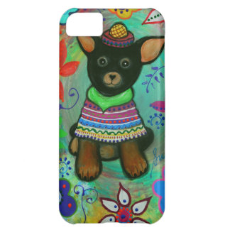 Mexican Chihuahua Pet Lover Black iPhone 5C Cases