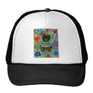 Mexican Chihuahua Pet Lover Black Trucker Hat