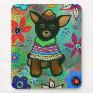 Mexican Chihuahua Pet Lover Black Mouse Pad