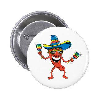 Mexican Chili Pepper 2 Inch Round Button
