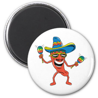 Mexican Chili Pepper 2 Inch Round Magnet