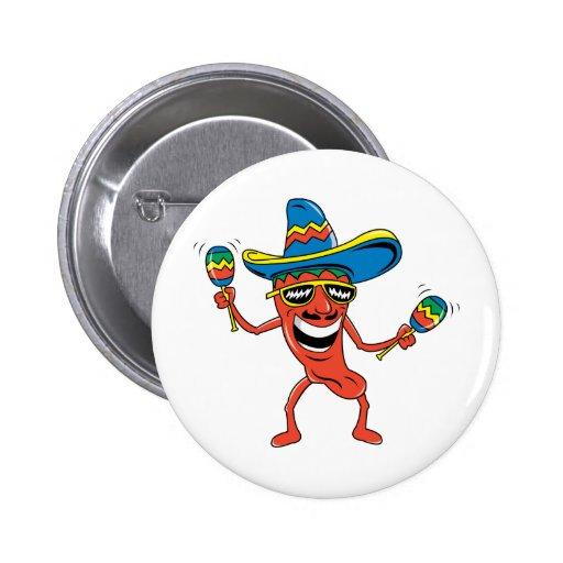 Mexican Chili Pepper Pinback Button