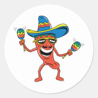 Mexican Chili Pepper Classic Round Sticker