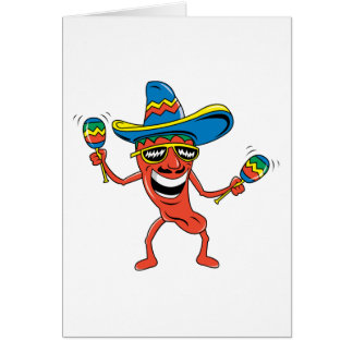 Mexican Chili Pepper Greeting Card