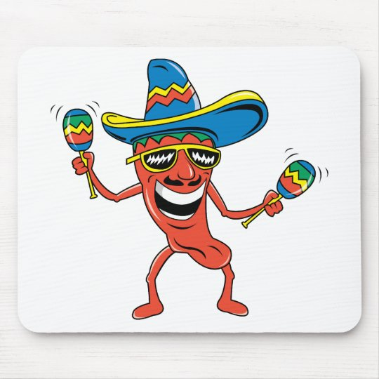 Mexican Chili Pepper Mouse Pad