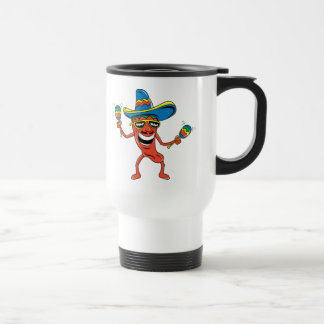Mexican Chili Pepper 15 Oz Stainless Steel Travel Mug