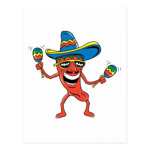Mexican Chili Pepper Postcard