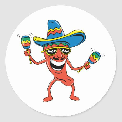 Mexican Chili Pepper Stickers