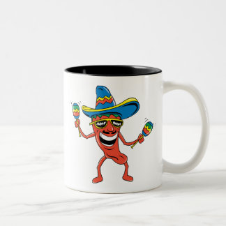 Mexican Chili Pepper Two-Tone Coffee Mug