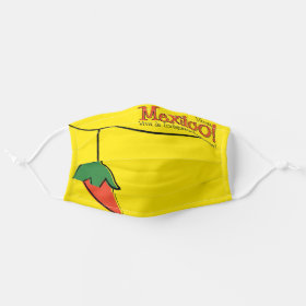 Mexican Chilli Pepper Viva Mexico Cloth Face Mask