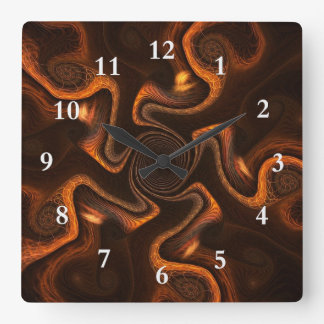 Mexican Chocolate Square Wall Clock