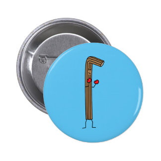 Mexican Churro Fighter with Red Boxing Gloves Pinback Button