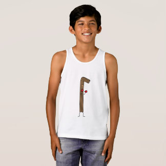 Mexican Churro Fighter with Red Boxing Gloves Tank Top