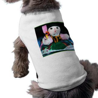 Mexican cloth doll pet tshirt