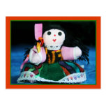 Mexican cloth doll postcard