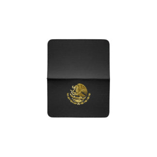 Mexican coat of arms business card holder