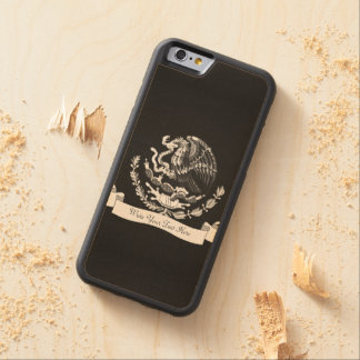 Mexican coat of arms carved® maple iPhone 6 bumper