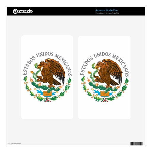 Mexican Coat of Arms Decal For Kindle Fire